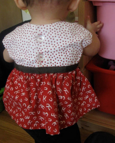 Polka Dot Dress Back