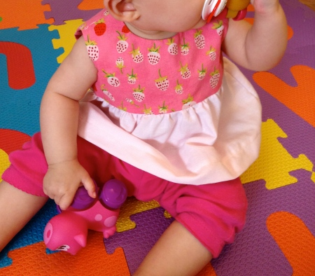 Strawberry Dress on Baby