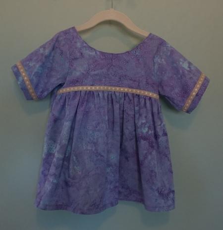 Purple Pleated Top