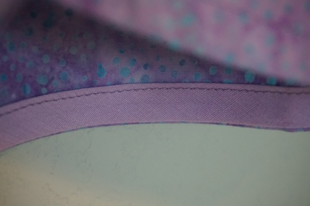 Purple Bias Tape Finish