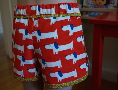 Back Red Rover Shorts