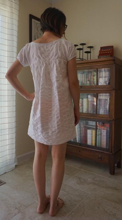 White Dress Back View