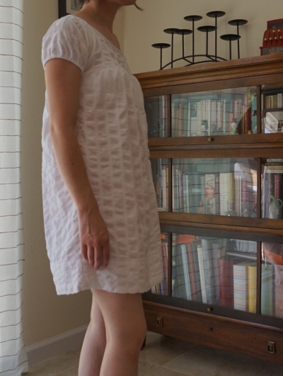 White Dress Side View